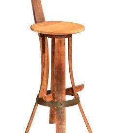 Tabouret de bar en bois recycl meubles en merrain - Tabouret de bar en bois brut ...