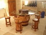 """Chaise de bar """"brut de fut""""Domaine Vocoret et fils73800 CHIGNIN"""