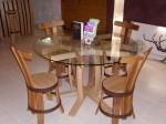 """chaise de table """"brut de fut""""Domaine de la rabotine18300 SURY EN VAUX"""