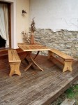 """Ensemble table et banc """"Romana"""""""
