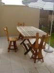 "Table ""Romana"" et chaises ""diane"""