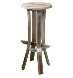 """tabouret de bar en bois recyclé """" tastevin couleur vin"""""""