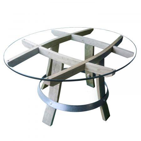 """table basse en bois recyclé """"Carré devin"""""""