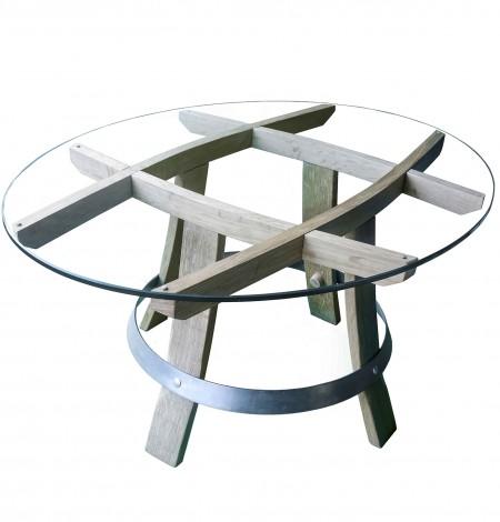 table basse en bois recyclé «Carré devin»