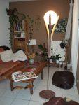 lampadaire en bois recyclé