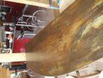 plateau de bar en tole d'acier bruni