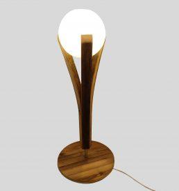 lampe chevet en bois recyclé