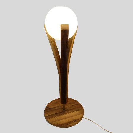 lampe chevet emergence en bois recyclé