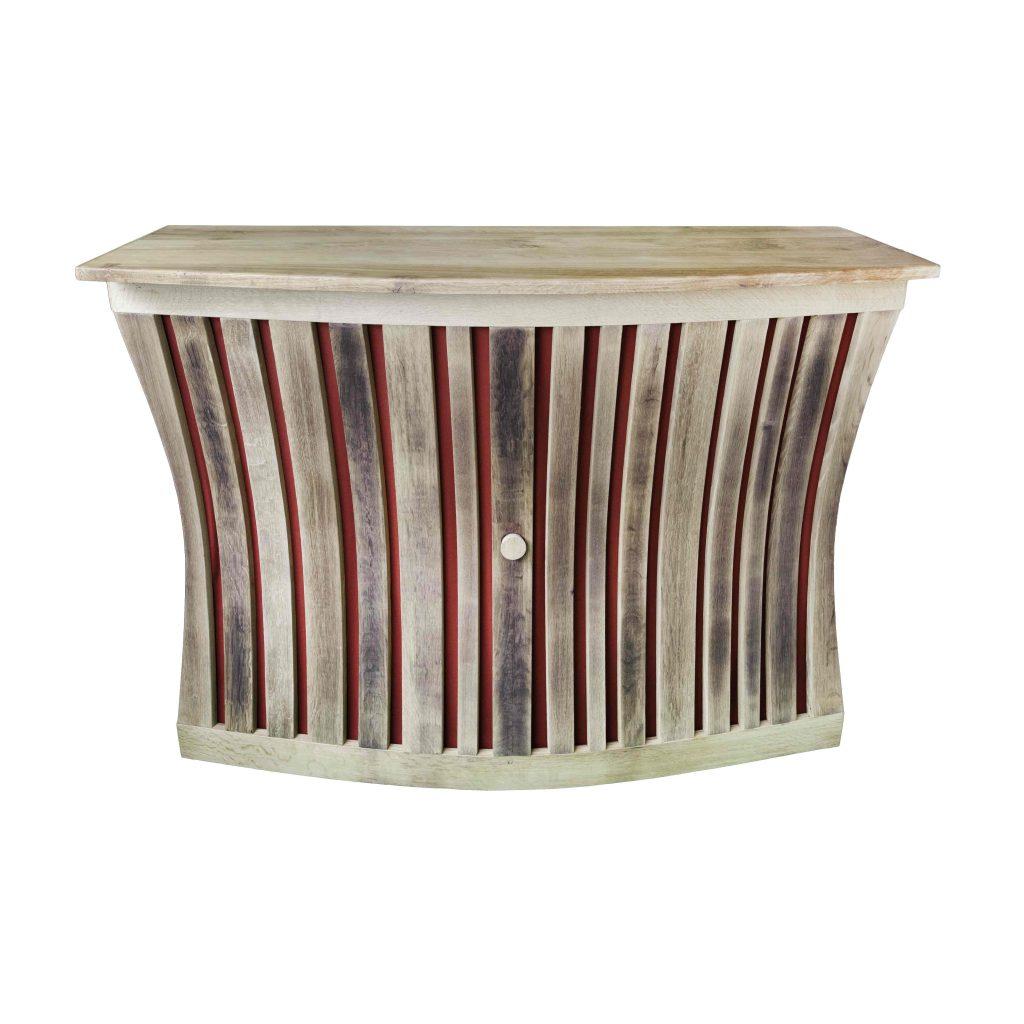 """Meuble En Tonneau De Vin comptoir de bar """"baravin"""" en bois de tonneaux recyclé"""