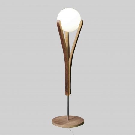lampadaire emergence taille basse en bois recyclé