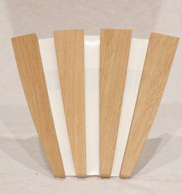 applique d'angle en bois de tonneaux recyclés