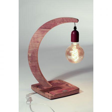lampe brin de chene socle carré 3