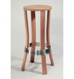 """Tabouret """"Brut de fut"""" couleur bois naturel, à monter soi-même."""