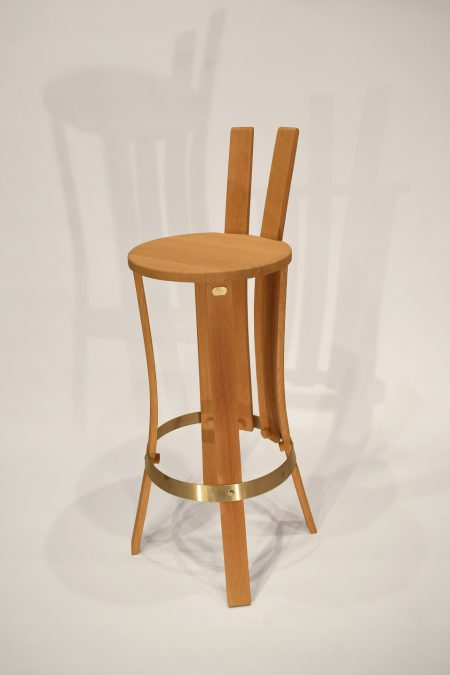 chaise de bar brut de fut 1 cercle