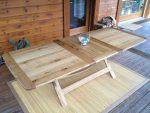 """table d'extérieur """"Romana"""" version 2 - avec rallonge - finition bois clair"""